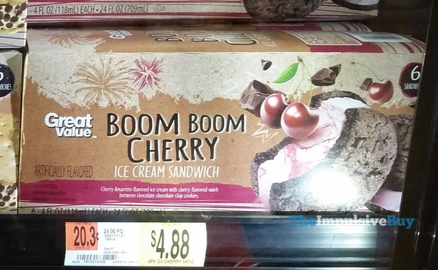 Great Value Boom Boom Cherry Ice Cream Sandwich