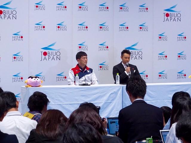 北島康介選手 引退体験