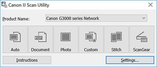 Canon JI Scan Utility