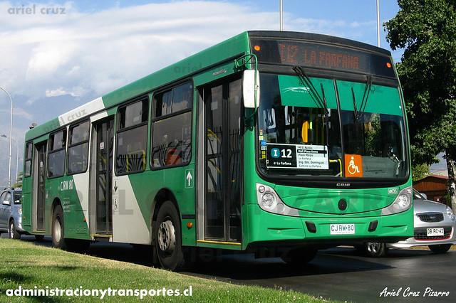 Transantiago (i12) - Buses Vule - Caio Mondego H / Mercedes Benz (CJRW80)