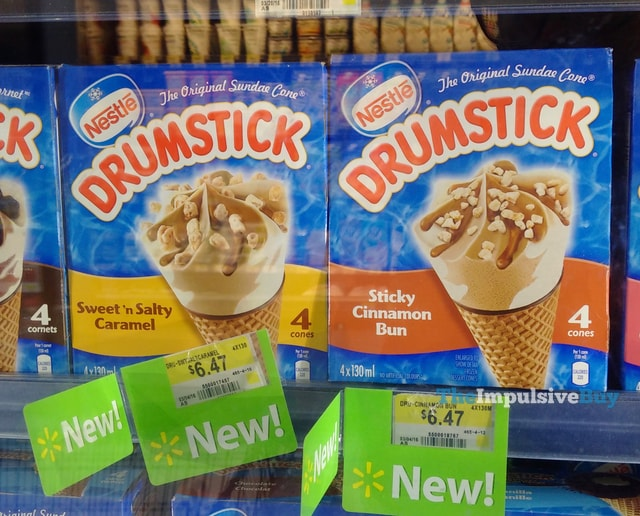 Nestle Drumstick Sweet 'n Salty Caramel and Sticky Cinnamon Bun (Canada)