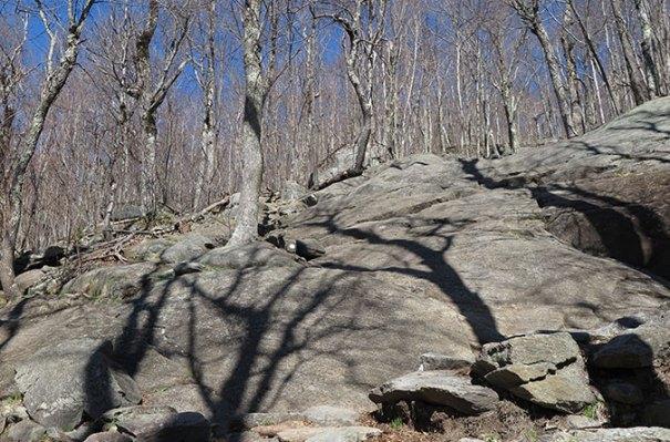 White Dot Trail Rock Scramble 1