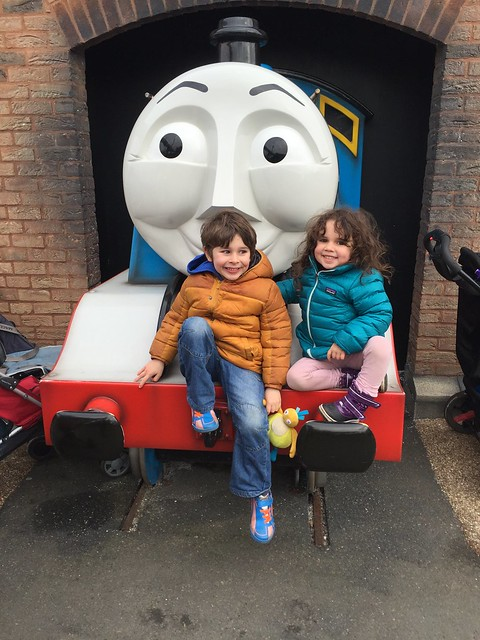 A day with Thomas: posing with Gordon