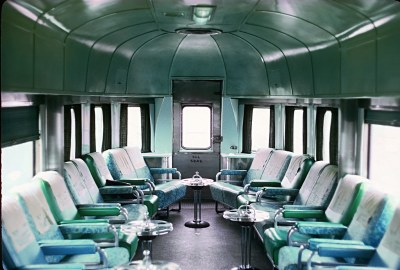 Seaboard Coast Line (ex-SAL) tavern-observation on Train 57, The Silver Meteor, on March 13, 1971