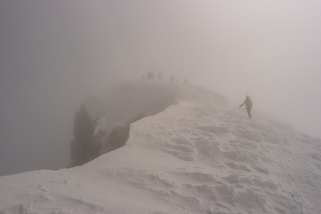 Hazy Mt Hood Summit