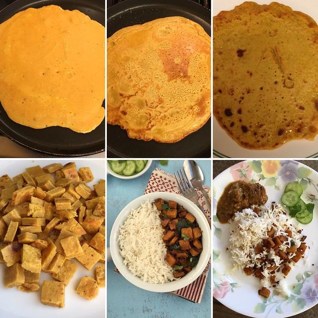 Collage of attu preparation for attu tunukala koora