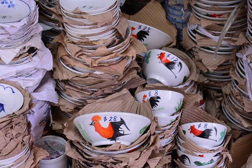 香港ニワトリの食器