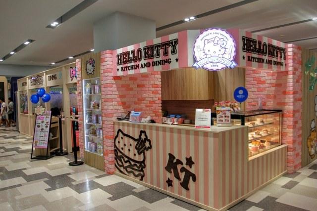 在台南夢時代3F,hello kitty 餐廳就在此,餐廳不大就是了...