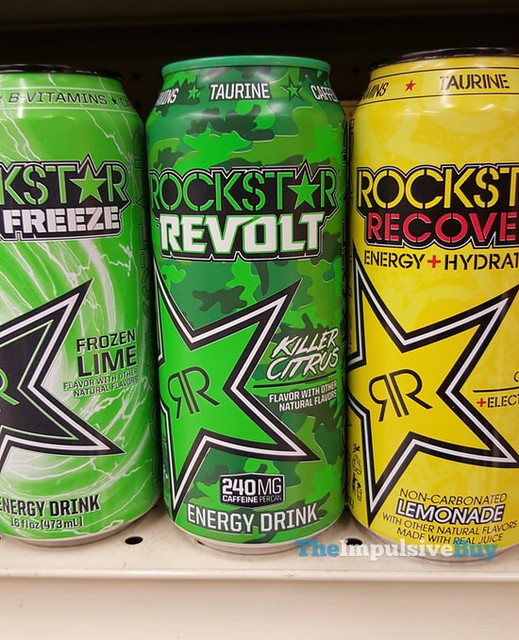 Rockstar Revolt Killer Citrus Energy Drink
