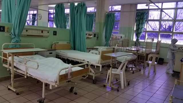 Crammed ward at Penang General Hospital - April 2016.