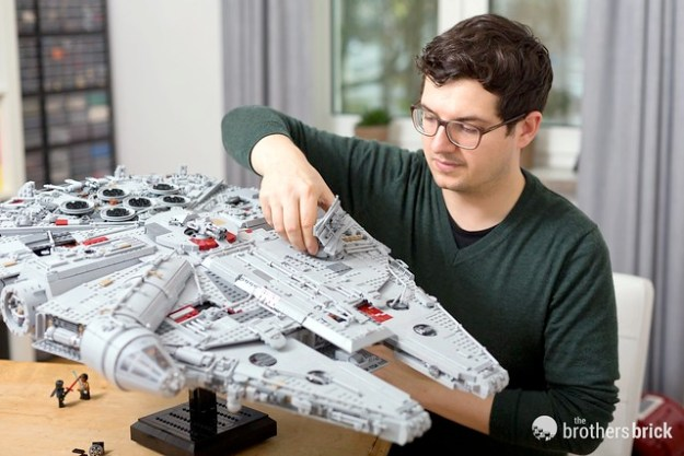 Hannes Tscharner with his Millennium Falcon