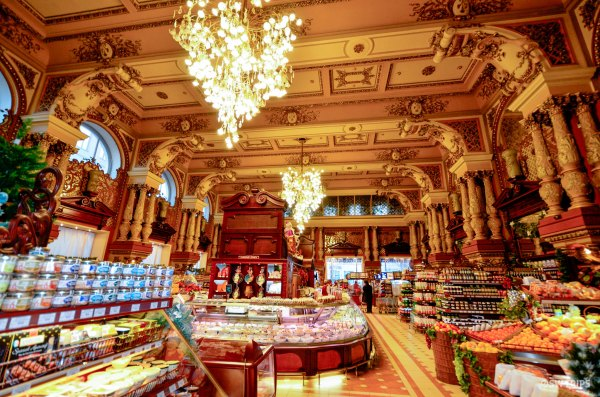 Inside a Supermarket in Moscow