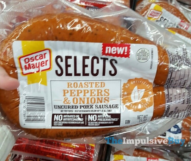 Oscar Mayer Selects Roasted Peppers & Onions Uncured Pork Sausage