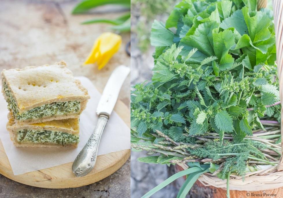 Torta salata al farro e erbe selvatiche3