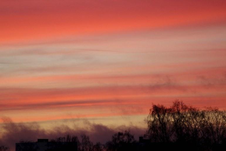 Colourful sunset