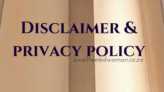 Disclaimer A Well Heeled Woman