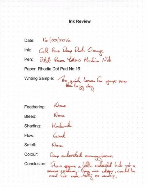Cult Pens Deep Dark Orange - Rhodia Dot Pad