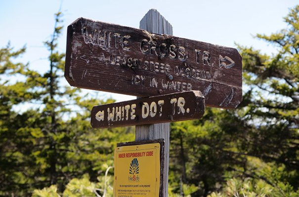 White Cross Trail Sign
