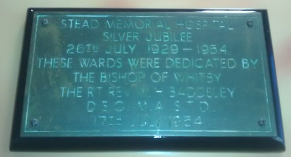 Stead Hospital Plaques