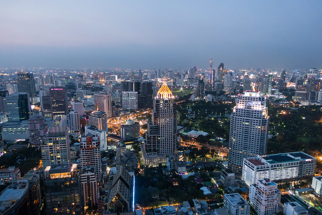Bangkok can be quite peaceful from over 50 stories in the air.