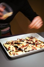 Grilled eggplant, yoghurt with saffron and pomegranate