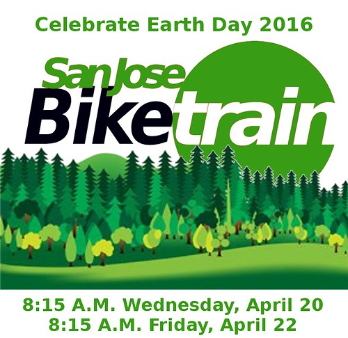 San Jose Bike Train Earth Week 2016