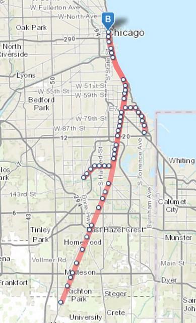 Where does the Chicago Metra run?