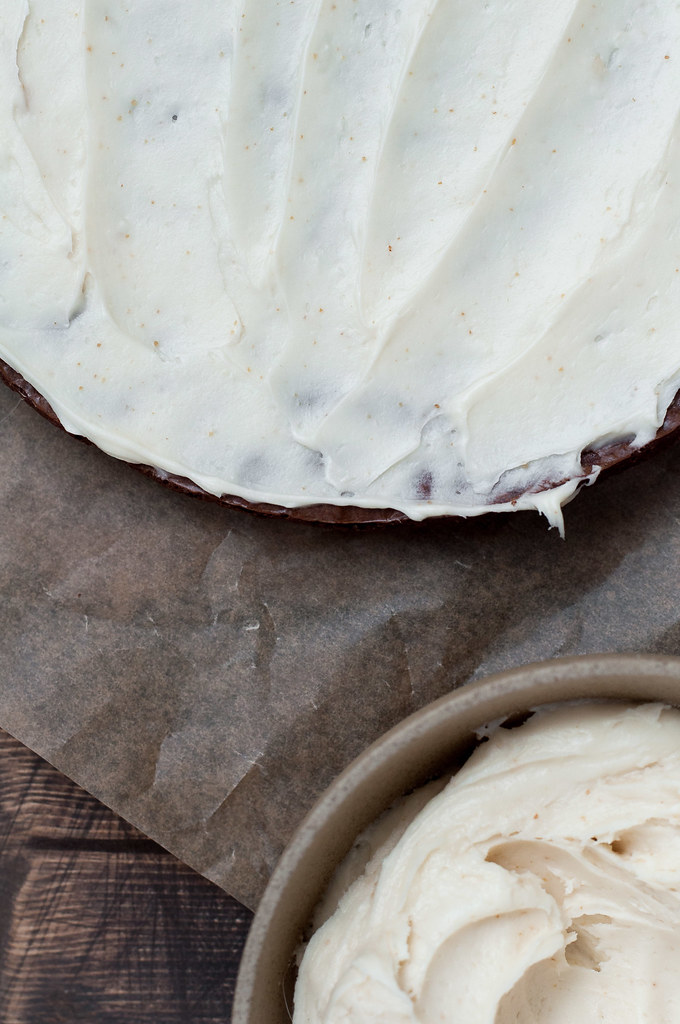 Brown butter cream cheese frosting