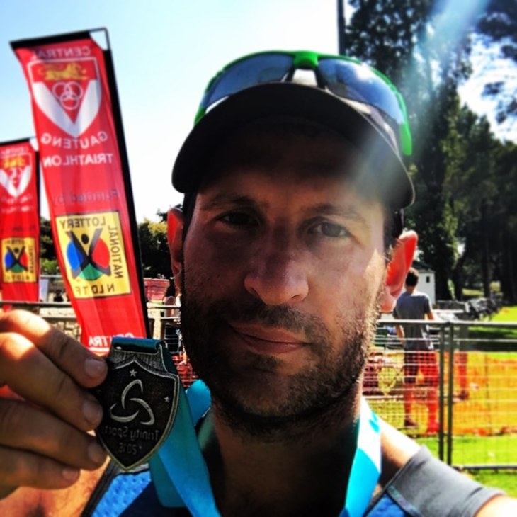 With my medal
