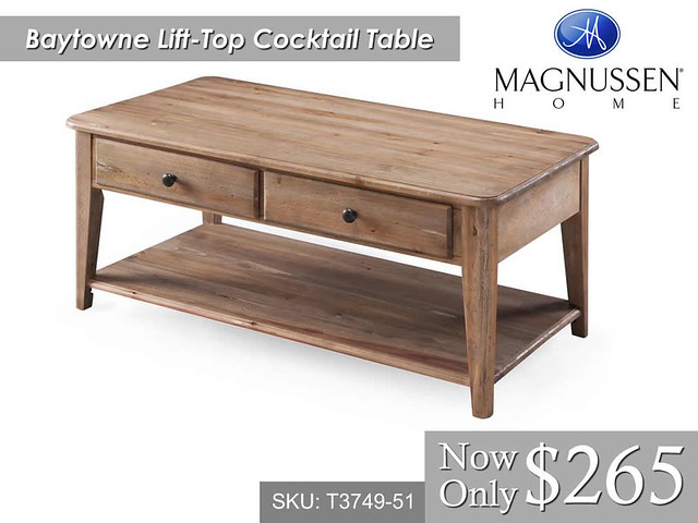 Baytowne Lift Top Cocktail Table