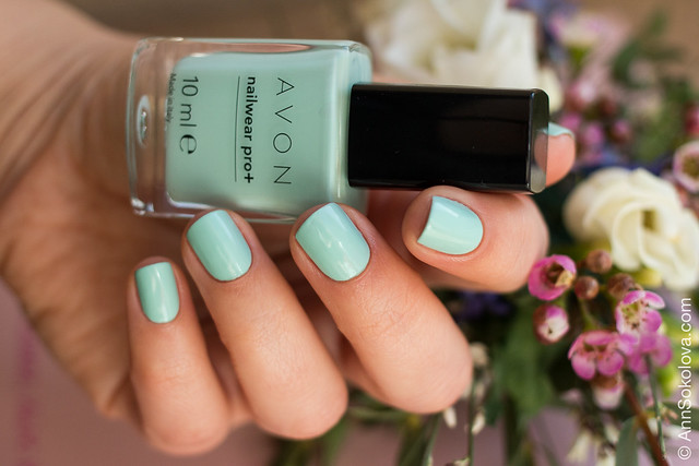 09 Avon Nailwear pro+ Aqua Verve Морская волна swatches Ann Sokolova