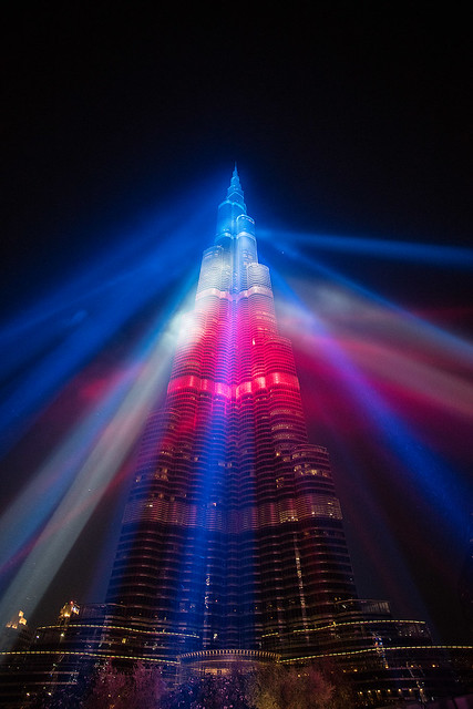 Burj Khalifa showing its support.