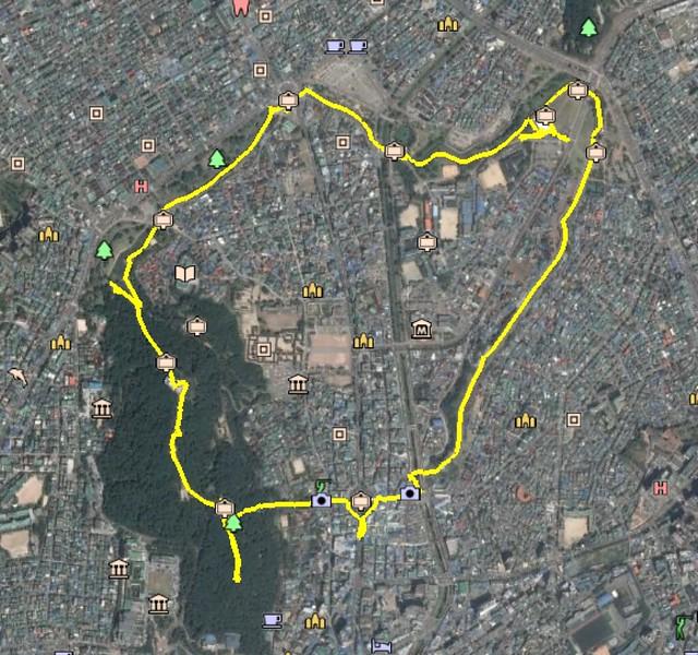 Hwaseong Fortress Hike Map