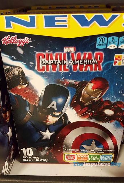 Kellogg's Marvel Captain America Civil War Fruit Flavored Snacks
