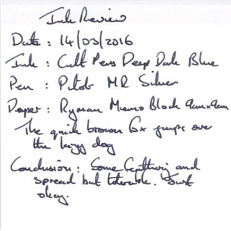 Cult Pens Deep Dark Blue - Ryman Memo