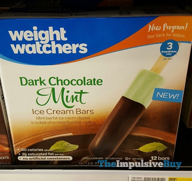 Weight Watchers Dark Chocolate Mint Ice Cream Bars