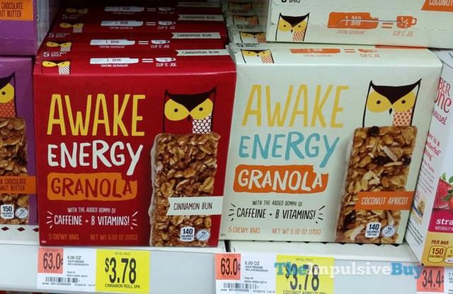 Awake Energy Granola Bars (Cinnamon Bun and Coconut Apricot)