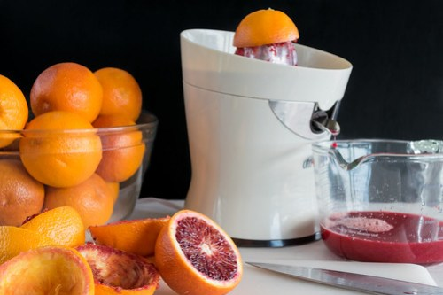 juicing the blood oranges