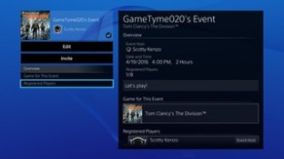 PS4 System Software 3.50 - User Scheduled Event