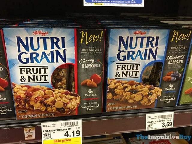 Kellogg's Nutrigrain Fruit & Nut Bars (Cherry Almond and Blueberry Almond)