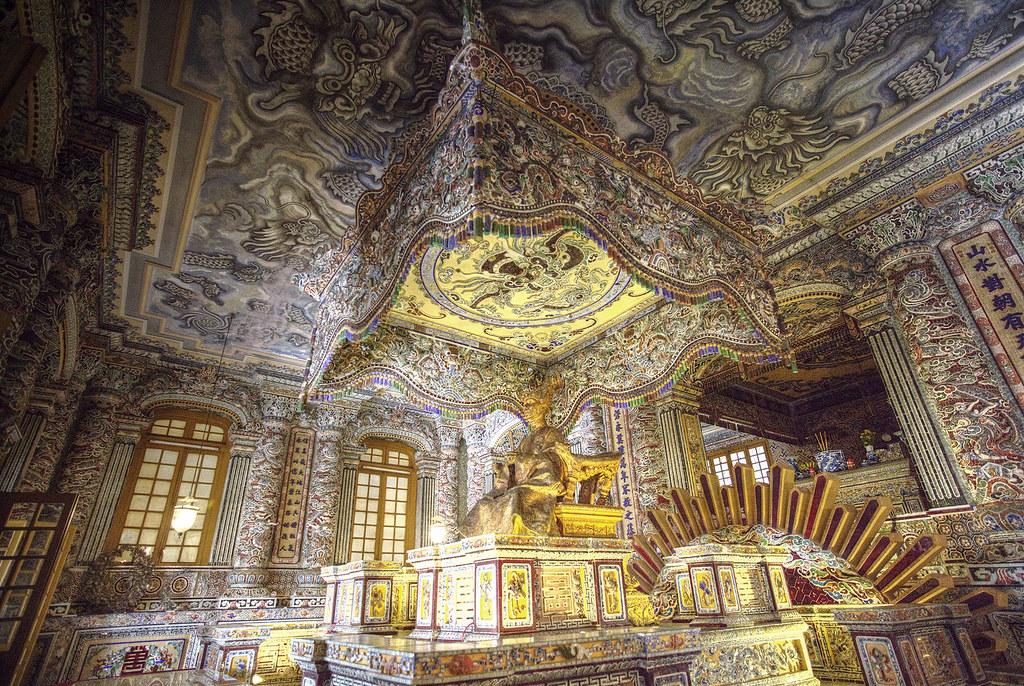 Inside the Tomb of Khai Dinh.