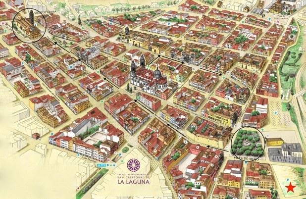 Mapa visitar La Laguna