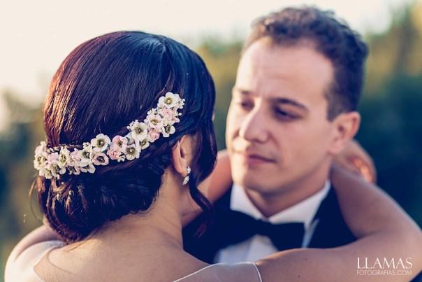 Media corona para novia