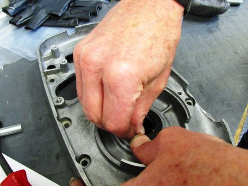 Pushing in Crankshaft Seal by Hand