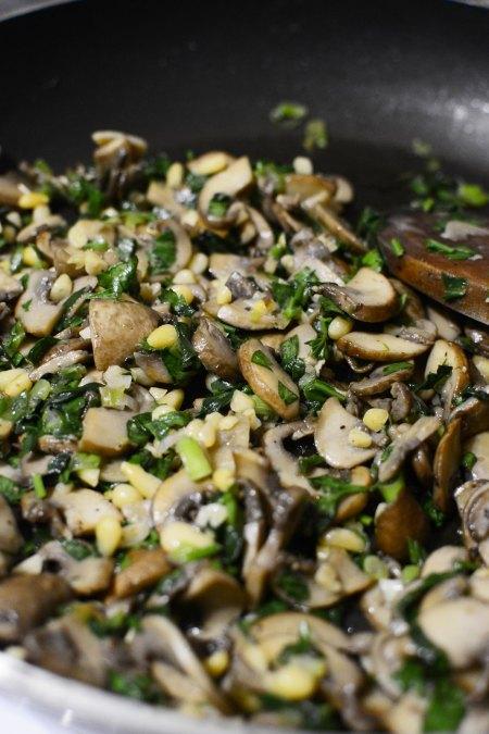 Mushroom-Spinach-Pine-nuts-Filling