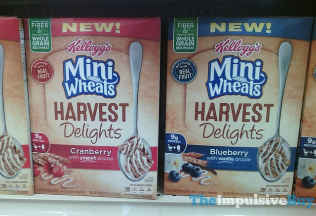 Kellogg's Mini Wheats Harvest Delights Cereal (Cranberry and Blueberry)