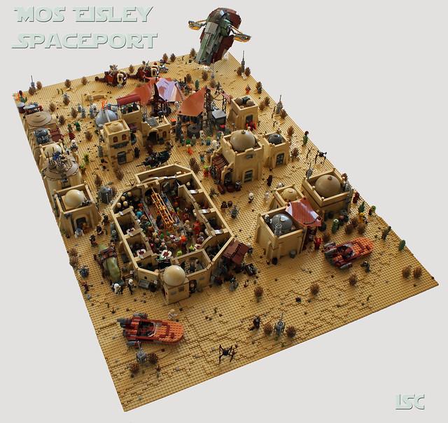 Diorama Mos Eisley LEGO Star Wars