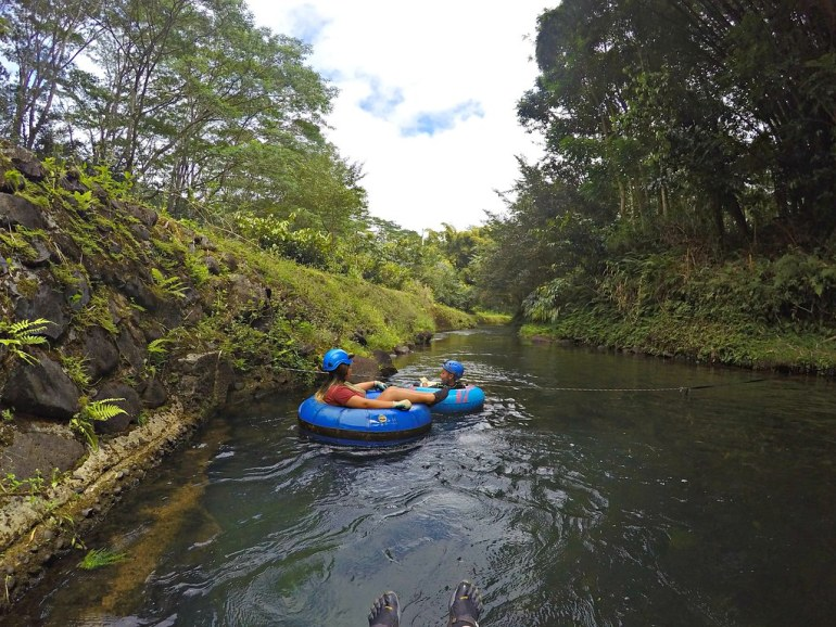 MOUNTAIN TUBING IN KAUAI WITH KAUAI BACKCOUNTRY ADVENTURES