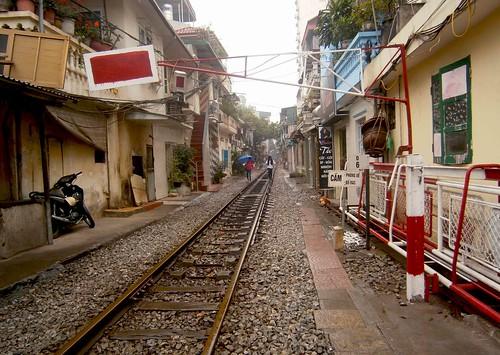 Railroad in Hanoi