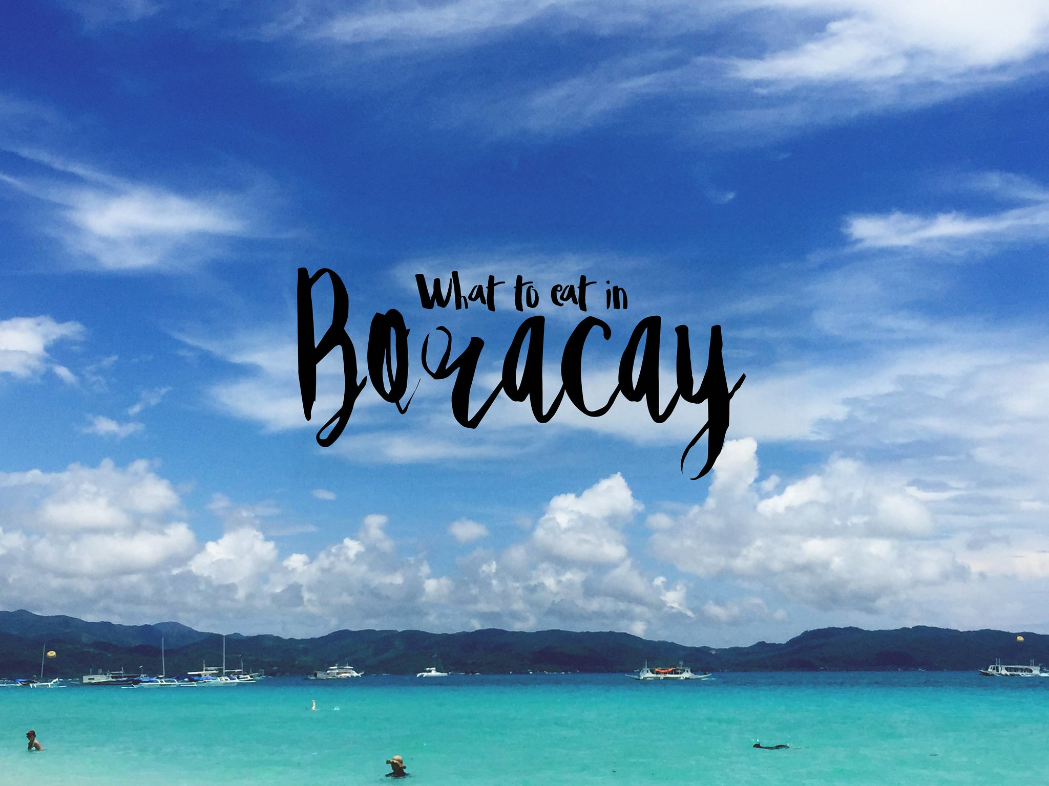 What to eat in Boracay